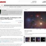 A how-to for Astrophotography provided by Canon